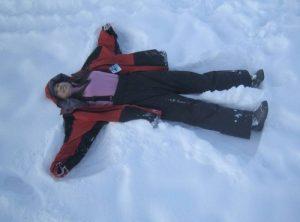 kelly at snow