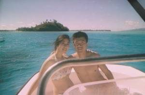 Simon and kelly at borabora