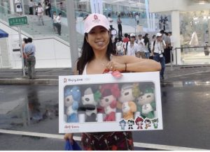 Kelly with dolls