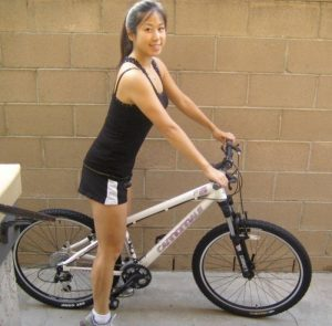Kelly on mountain bike