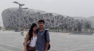 Simon and Kelly at China