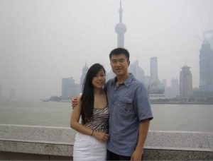 Simon and kelly at shanghai