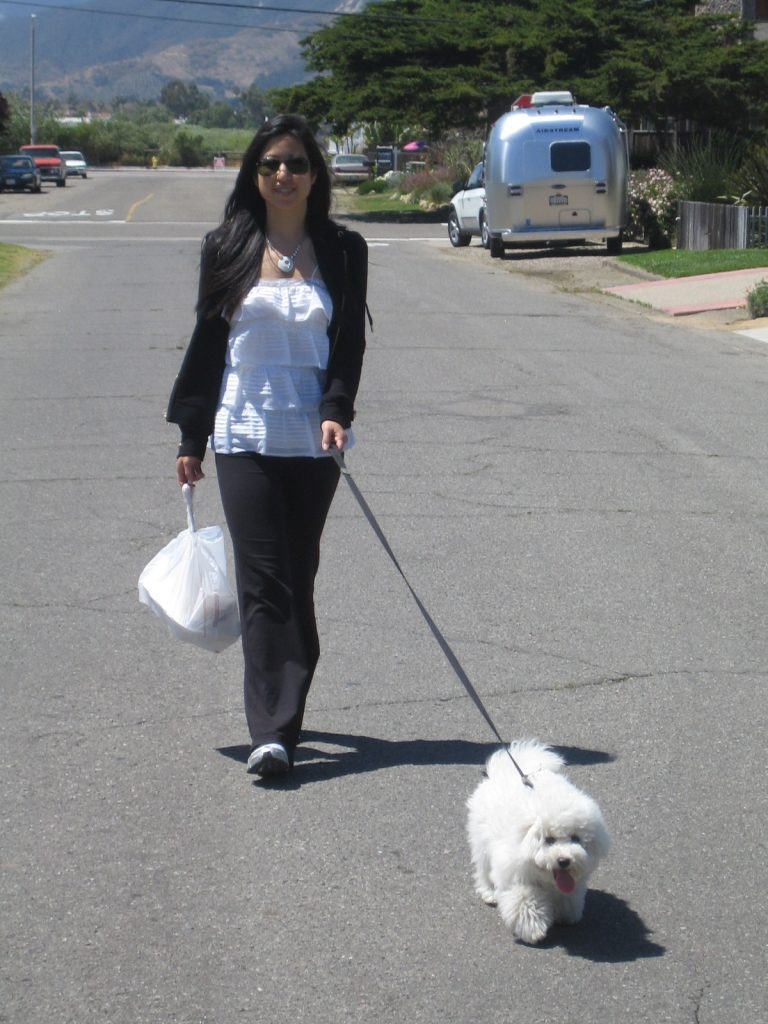kelly and obi walking