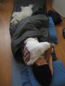 simon sleeping
