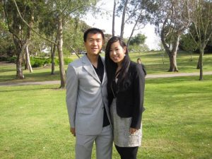 Simon and Kelly at wedding