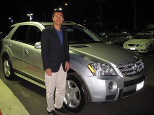 Simon and new car