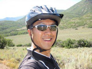 simon mountain biking