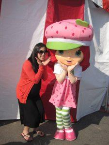 kelly with strawberry shortcake
