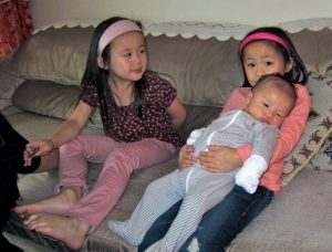 ethan with cousins