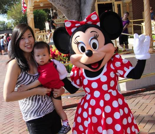 Kelly and ethan with minnie mouse