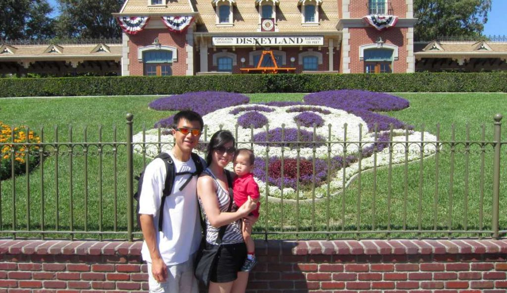 Simon and family at disneyland