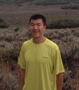 Simon hiking