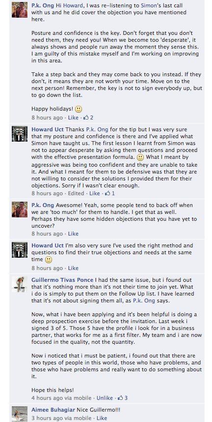 facebook feedbacks