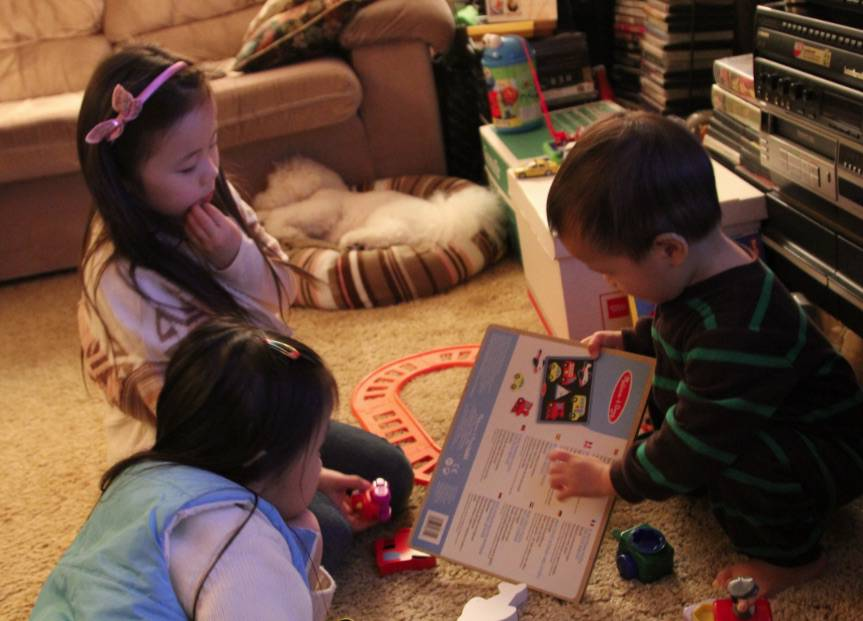 Ethan and friends reading