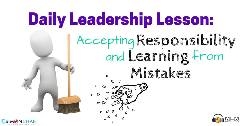 Accepting Responsibility and Learning from Mistakes