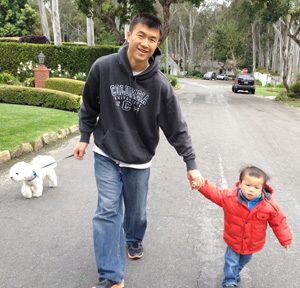 Afternoon stroll with Ethan and Obi