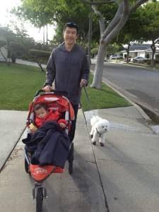 Simon walking with obi