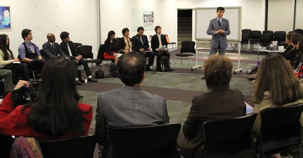 Simon Chan conducting individual small team trainings in Sydney