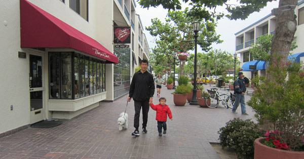 Walking the streets of Monterey