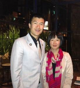 Simon Chan with Julia Qin