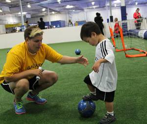 Ethan's first soccer lesson