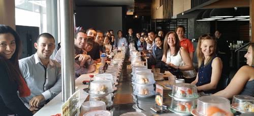 Sushi lunch break in Sydney