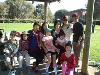 Christina Tseng Picnic family