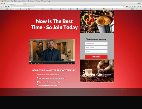 """This simple """"landing page"""" sites creates curiosity and gets prospect to take action. It's a clean looking site that creates curiosity and make prospect want to learn more. There's no where for prospect to go except to fill out the lead form"""