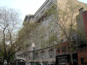 The original Stuyvesant High School on 15th Street between 1st and 2nd Ave in NYC