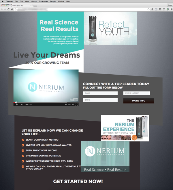 Targeted MLM Websites that attract leads Nerium
