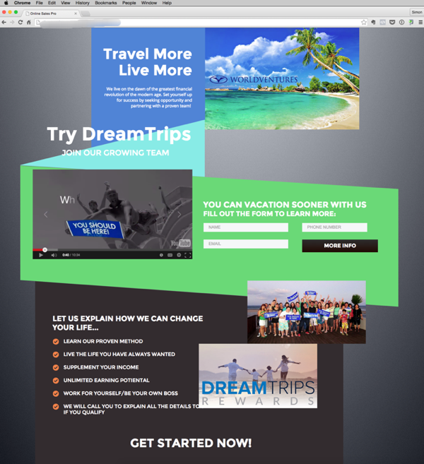 Targeted MLM Websites that attract leads World Ventures