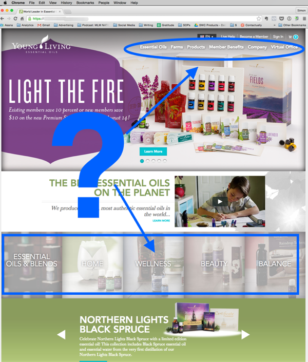 Young Living mlm company website