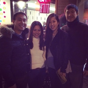 Meeting up with Brian Chung (left)