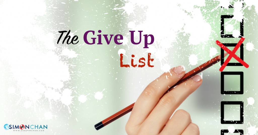 give up list