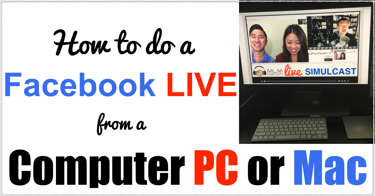 Facebook Live Stream from Computer